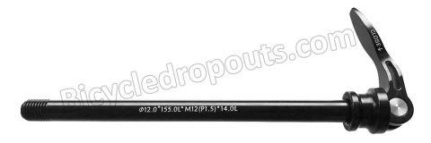 BDTA - 004 - 169mm*ø12*M12x1.5*TL14 - Thru axle - Steekas - Flanders RS-pro