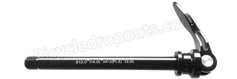 BDTA011,126mm*ø12*M12x1.5*TL12,Thru axle,Steekas,Flanders, CX500,