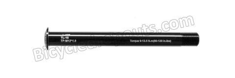 BDTA-102,122mm*ø12*M12x1.0*TL15, Thru axle , Steekas , Axe traversant