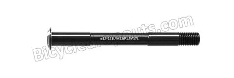 BDTA-103 ,121mm*ø12*M12x1.5*TL17, Thru axle, Steekas, Axe traversant,Scott,foil,enve,diamondback,ticara,DT Swiss