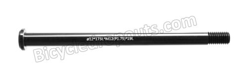 BDTA-119,183mm*ø12*M12x1.5*TL30,Thru axle,Steekas,Axe traversant