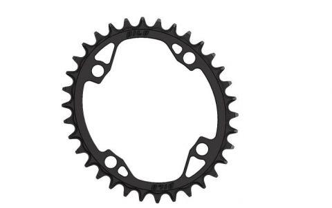 Pilo,Bicycledropouts,BD-c64,C64,34T,Narrow Wide,Chainring,104BCD,Asymmetric,Cranks, Black Anodized,Tandwielen,Kettingbladen,kettingblad,plateau,plateaux,tandwiel