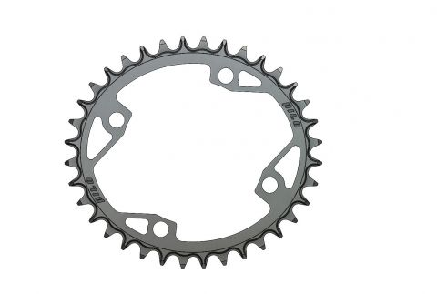Pilo,Bicycledropouts,BD-c66,C66,36T,Narrow Wide,Chainring,104BCD,Asymmetric,Cranks, Black Anodized,Tandwielen,Kettingbladen,kettingblad,plateau,plateaux,tandwiel